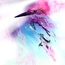 Load image into Gallery viewer, Abstract Colourful bird. Pink Blue Birdie. Art Print. Antuanelle 1 and Limited Edition Print