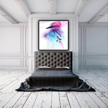 Load image into Gallery viewer, Abstract Colourful bird. Pink Blue Birdie. Art Print. Antuanelle 3 and Limited Edition Print