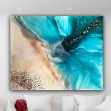 Load image into Gallery viewer, Abstract shoreline. Original Artwork. Seascape Rise Above. Antuanelle 1 Beach. Artwork