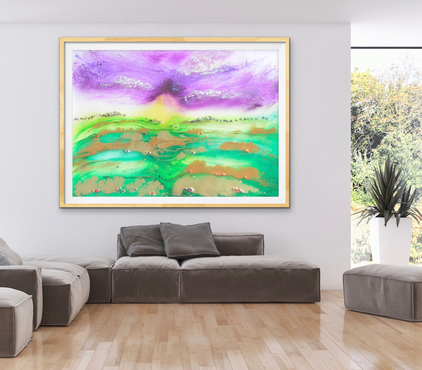 Bali Green. Abstract Limited Edition Print. Antuanelle 6