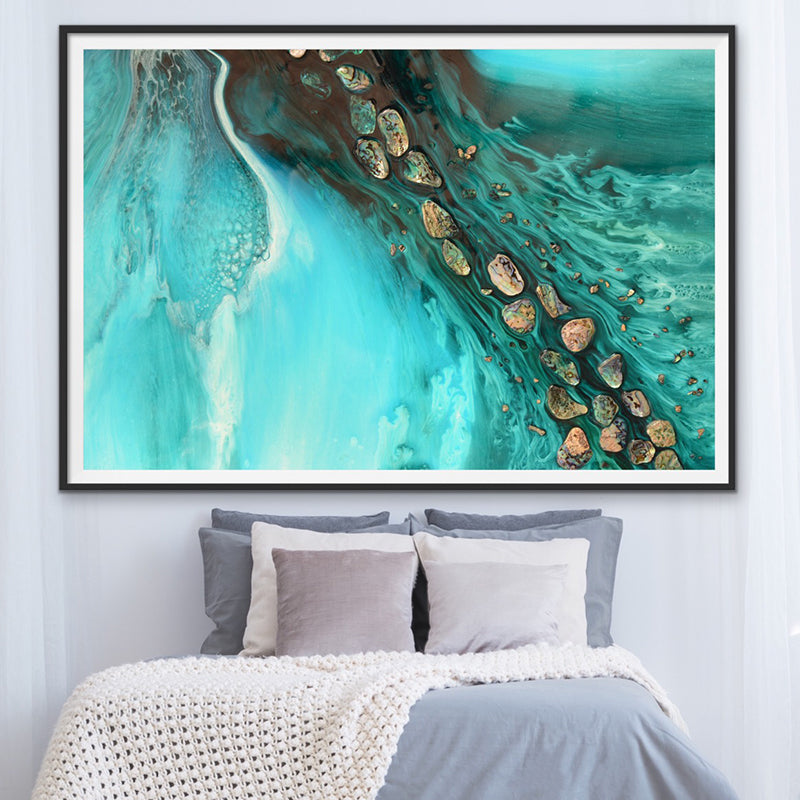 Abstract Ocean. Teal & Aqua. Rise Above Tide 3. Art Print. Antuanelle 1 Artwork. Limited Edition Print