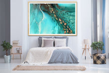 Load image into Gallery viewer, Abstract Ocean. Teal & Aqua. Rise Above Tide 3. Art Print. Antuanelle 2 Artwork. Limited Edition Print