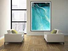 Load image into Gallery viewer, Abstract Oceanscape. Rise Above Inlet 2. Art Print. Antuanelle 6 Ocean Inspired Artwork. Limited Edition Print
