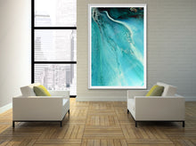 Load image into Gallery viewer, Abstract Oceanscape. Rise Above Inlet 2. Art Print. Antuanelle 5 Ocean Inspired Artwork. Limited Edition Print