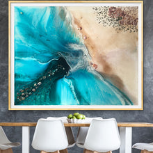Load image into Gallery viewer, Abstract shoreline. Rise Above Ocean Seascape. Art Print Antuanelle 1 Limited Edition