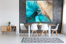 Load image into Gallery viewer, Abstract shoreline. Rise Above Ocean Seascape. Art Print Antuanelle 4 Limited Edition
