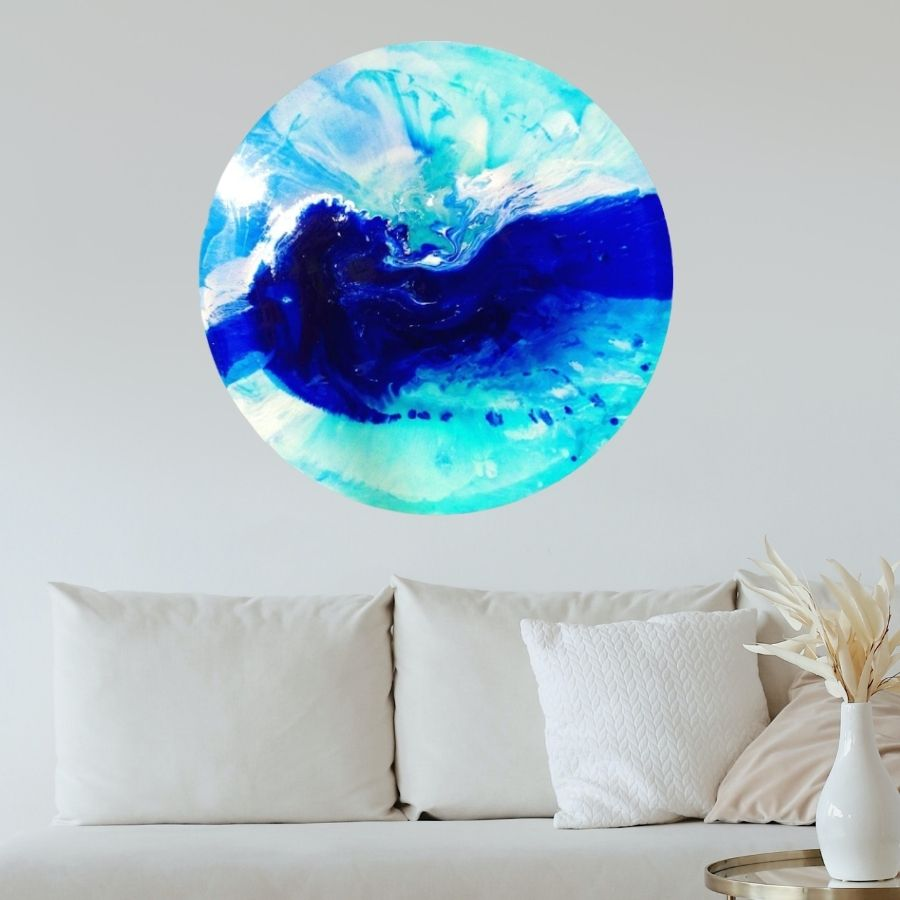 Custom Artwork. Silence. Abstract ocean. Original Antuanelle 1 Ocean. COMMISSION - Artwork
