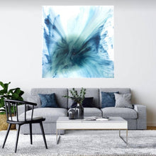Load image into Gallery viewer, Ocean Resin Art - Abstract Seascape - Teal Blue Wave Beach - Print - My Heaven. AZURE PORTALS. Original Artwork - Antuanelle - 1. Artwork.