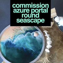 Load image into Gallery viewer, Round Ocean Resin Art - CUSTOM ABSTRACT OCEAN ARTWORK 1 COMMISSION Seascape - Portal to the