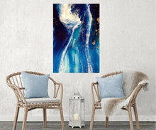 Load image into Gallery viewer, Abstract Navy Seascape. Blue Deep Pandora. Art print. Antuanelle 5 Pandora Ocean. Limited Edition Print