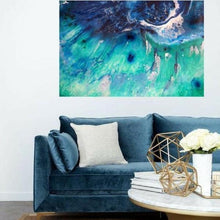 Load image into Gallery viewer, Abstract Surf. Turquoise. Bondi Surf Vibrant. Art print. Antuanelle 1 Aqua Green | Limited Edition Print