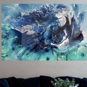 Art Print Aqua Bondi Surf Abstract Ocean. Limited Edition Antuanelle
