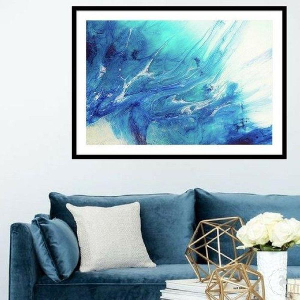 Abstract Seascape. Dreaming Gold Coast. Art Print. Antuanelle 1 Boho Ocean. Limited Edition Print