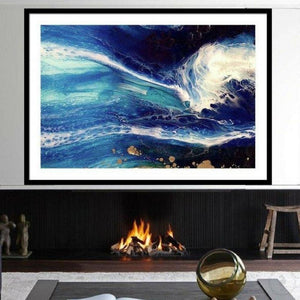 Art Print Blue Deep Pandora Abstract Ocean. Limited Edition Antuanelle