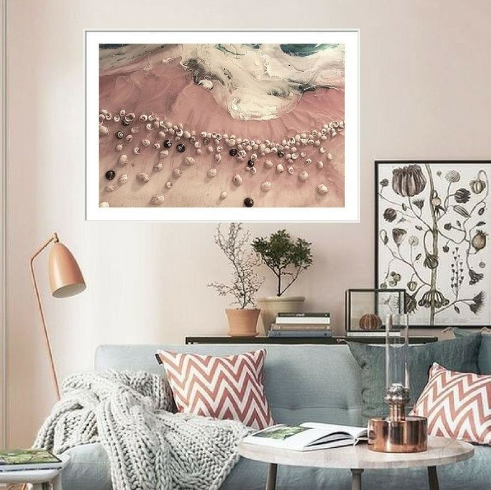 Abstract Ocean. Pastel Pink. Venus Seashells. Art Print. Antuanelle 1 Ocean Limited Edition Print