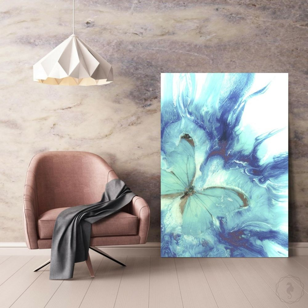 Abstract Butterfly. Dreaming Pastel Art Print. Antuanelle 1 Limited Edition Seascape Wave Wall