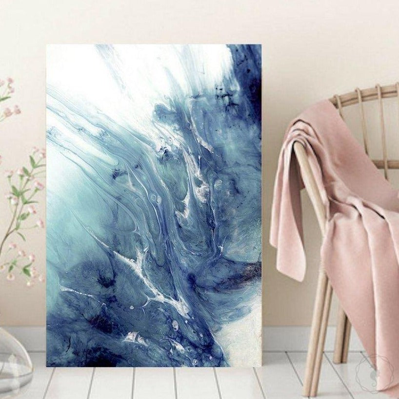 Abstract Seascape. Dreaming Neutral Boho. Art Print. Antuanelle 1 Boho Limited Edition Print