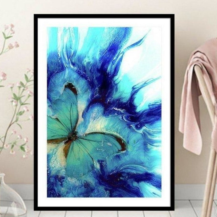 Abstract butterfly. Dreaming Butterfly Vibrant. Art Print. Antuanlle 1 Seascape. Limited Edition Print