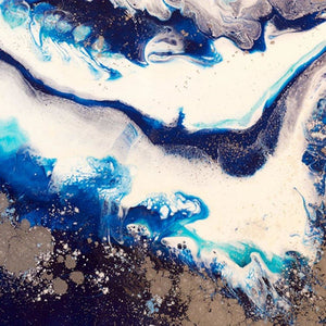 Abstract Oceanscape. Dark Blues. Ice Flow Navy. Art Print. Antuanelle 3 Seascape. Limited Edition Print