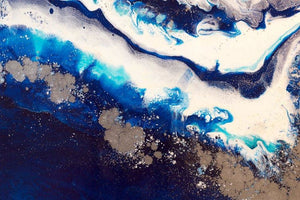 Abstract Oceanscape. Dark Blues. Ice Flow Navy. Art Print. Antuanelle 4 Seascape. Limited Edition Print