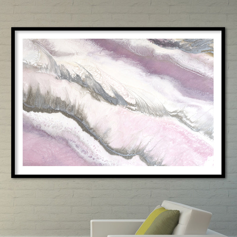 Abstract Artwork. Pink and Grey. Blush Sands 2. Art Print. Antuanelle 1 Limited Edition Print