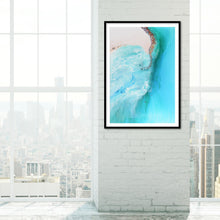 Load image into Gallery viewer, Abstract Coastline. Serenity 1 Ocean Artwork. Art Print. Antuanelle 3 Durdle Door Limited Edition Print