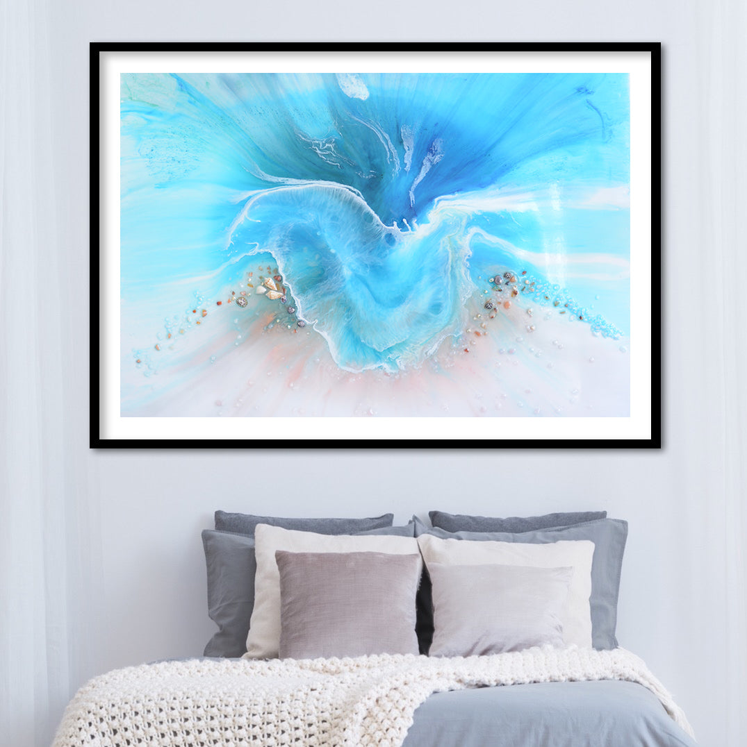 Abstract Ocean. Light Blue. Coogee Vibe 2. Art Print. Antuanelle 5 Ocean Artwork. Limited Edition Print
