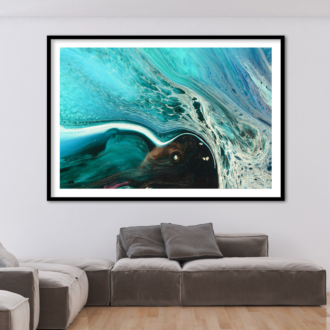 Abstract Seascape. Rise Above Inlet 2 Tropical. Art Print. Antuanelle 3 Tropical Artwork. Limited Edition Print