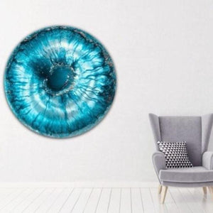 Teal Seascape Abstract. Ocean Porthole. Beyond. Antuanelle 4 Abstract Seascape. Original Artwork