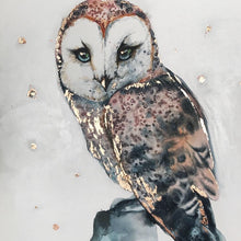 Load image into Gallery viewer, Mesmerizing Owl watercolor Original Artwork 1 OWL
