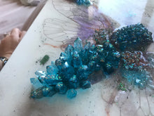 Load image into Gallery viewer, 3 Cicada in Crystals. Blue Opal. Original Artwork 30x40cm