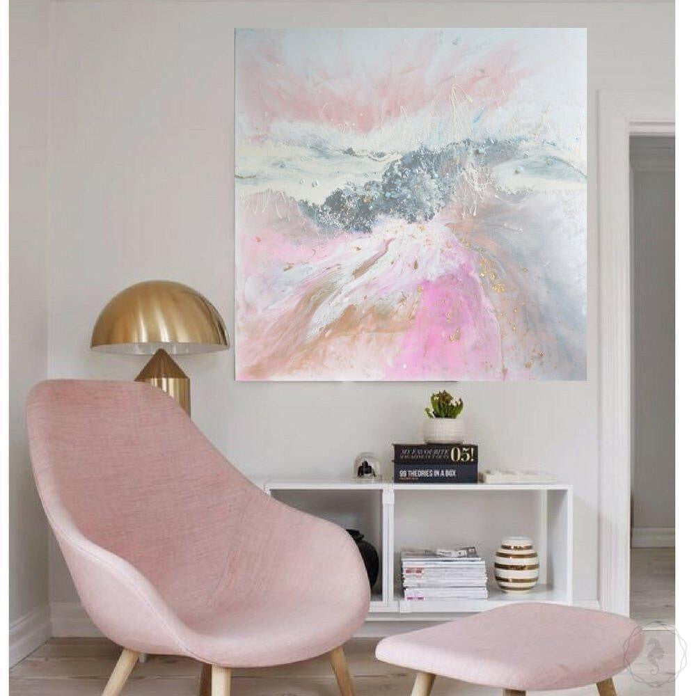 Abstract Pastel. Pink and silver. Angelic Dreams. Art Print. Antuanelle 1 Dreams | Limited Edition Print