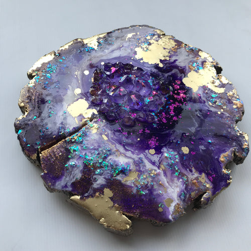 Purple Geode. Crystal Artwork.Purple Artwork. - Antuanelle - 1