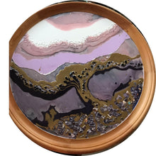Load image into Gallery viewer, 4 Tree of Life. Original Abstract Artwork with Purple Shells and Black Onyx