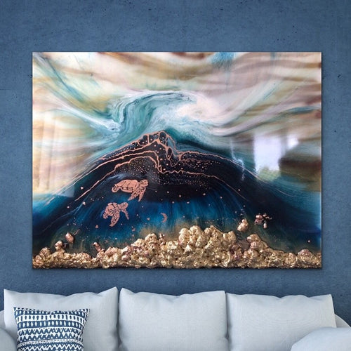 Seascape. Beach Resin Artwork | ANTUANELLE | Oblivion 1 Oblivion. Original