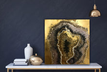 Load image into Gallery viewer, Crystal Geode - CUSTOM Artwork - Resin Art 5 COMMISSION - ABSTRACT ARTWORK