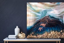 Load image into Gallery viewer, 9 Oblivion Turtles. Abstract Seascape. Limited Edition Print
