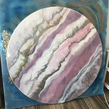 Load image into Gallery viewer, 7 Blush Sands. Round Acrylic Perspex Print. Antuanelle
