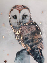 Load image into Gallery viewer, Mesmerizing Owl watercolor Original Artwork 2 OWL