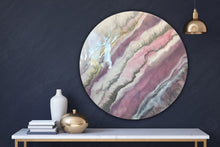 Load image into Gallery viewer, 10 Blush Sands. Round Acrylic Perspex Print. Antuanelle