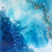 Blue lagoon. Original Abstract Seascape Artwork