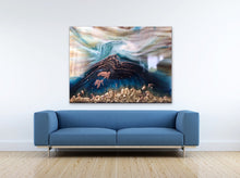 Load image into Gallery viewer, 3 Oblivion Turtles. Abstract Seascape. Limited Edition Print