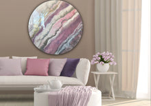 Load image into Gallery viewer, 8 Blush Sands. Round Acrylic Perspex Print. Antuanelle