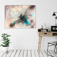 Load image into Gallery viewer, 8 Cicada in Crystals. Blue Opal. Original Artwork 30x40cm
