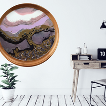 Load image into Gallery viewer, 3 Tree of Life. Original Abstract Artwork with Purple Shells and Black Onyx