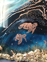 Load image into Gallery viewer, 11 Oblivion Turtles. Abstract Seascape. Limited Edition Print