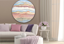 Load image into Gallery viewer, Ocean Resin Art - Abstract Seascape - Teal Blue Wave Beach - Print - Pink Abstract. Blissful Blush. Original Artwork - Antuanelle - 8 Blush