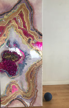 Load image into Gallery viewer, Starbright 1 Pink and Gold Geode Art Crystal Original Artwork