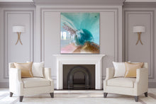 Load image into Gallery viewer, Teal Abstract Artwork. Ocean Blue. Aqua Bliss. Antuanelle 7 Abstract. Original 100x100cm