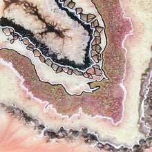 COMMISSION. Rose quartz Geode. Abstract Geode Crystal. Original Artwork.